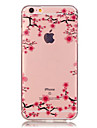 Pour Coque iPhone 6 Coques iPhone 6 Plus Transparente Motif Coque Coque Arriere Coque Fleur Flexible PUT pouriPhone 7 Plus iPhone 7