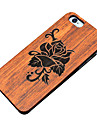 Для Кейс для iPhone 6 Кейс для iPhone 6 Plus Чехлы панели Рельефный Задняя крышка Кейс для Имитация дерева Твердый Дерево для AppleiPhone