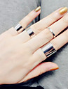 Ring Fashion / Adjustable Daily / Casual Jewelry Women / Men Midi Rings / Band Rings 4pcs,One Size Silver