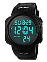SKMEI 여성용 남성용 남여 공용 스포츠 시계 손목 시계 디지털 시계 디지털 LCD 달력 크로노그래프 방수 경보 야광의 스톱워치 고무 밴드 블랙 그린