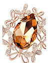 высокое качество кристалл бабочки брошь для свадьбы партии леди