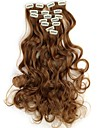 18 Inch 7pcs/set Long Synthetic Wavy Clip In Hair Extensions with 16 Clips - 16 Colors Available