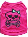 猫用品 / 犬用品 コスチューム / Tシャツ ローズピンク 犬用ウェア 夏 スカル ファッション / コスプレ / ハロウィーン