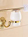 Porte Brosse de Toilette / Gadget de Salle de Bain / Ti-PVD / Fixation Murale /5.1*2.36*14.96 inch /Laiton /Neoclassique /13cm 6cm 0.8KG