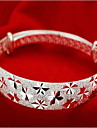 Femme Bracelets Rigides Mode Argent sterling Bijoux Bijoux Pour Regalos de Navidad