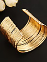 Gold Adjustable Open Cuff Bangle Bracelet