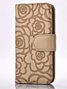 Для Samsung Galaxy Note Бумажник для карт / Кошелек / со стендом / Флип / Рельефный Кейс для Чехол Кейс для Цветы МягкийИскусственная