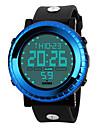 SKMEI 남성 스포츠 시계 LED 달력 크로노그래프 방수 경보 스톱워치 야광 디지털 PU 밴드 멋진 블랙