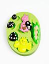 Peapod baby ladybirds силиконовая форма для шоколада полимерная глиняная сахара инструменты инструменты торты украшения плесень цвет случайный