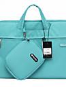 gearmax® 14 polegadas / 15 polegadas impermeavel caso de laptop portatil / saco de cor solida azul / verde / rosa / cinza
