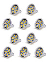 10pcs mr11 9led smd5050 100-150lm 1.5w chaud blanc / cool blanc decoratif dc 12v