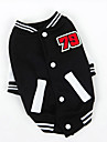 Dog Sweatshirt Red / Blue / Black Dog Clothes Winter / Spring/Fall Color Block Sports / Fashion