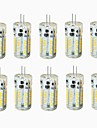 G4 Двухштырьковые LED лампы T 57 SMD 3014 300-450 lm Тёплый белый Холодный белый Естественный белый Декоративная ВодонепроницаемыйDC 12
