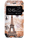 Eiffel Tower Pattern Window Clamshell PU Leather Case with Stand for iPhone 7 7plus 6s 6 Plus SE 5s 5
