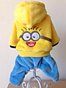 Cat / Dog Costume / Coat Blue / Yellow / Rose Winter / Spring/Fall Cartoon / Animal Cosplay / Halloween