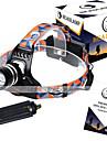 U`King® Ремешок для налобного фонаря LED 3000LM Люмен 3 Режим Cree XM-L T6 18650Фокусировка / Перезаряжаемый / Компактный размер /