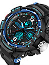 SANDA® Men\'s Fashion Sport LED Analog Digital Dual Time Luminous Rubber Band Waterproof Watch Fashion Wrist Watch Cool Watch