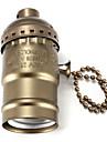 e27 бакелитовой основание лампы гнездо держатель лампы с выключателем черный / бронза / серебро / золотой цвет