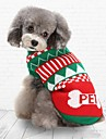 Коты Собаки Свитера Одежда для собак Зима Полоски На каждый день Сохраняет тепло Рождество Зеленый Синий