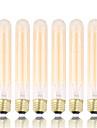 GMY 6pcs t30 edison lampada do vintage lampada 60w e26 / e27 decorar lampada 185 milimetros