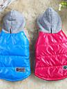 honden Jassen / Hoodies / Gilet Rood / Blauw Hondenkleding Winter Effen Houd Warm