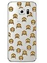 Monkey face TPU Soft  Ultra-thin Soft Back Cove for Samsung Galaxy S7 edge / S7 / S6 edge plus / S6 edge / S6 / S5/S4