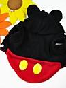 Chat Chien Costume Tenue Pulls a capuche Vetements pour Chien Hiver Printemps/Automne Dessin-Anime Mignon Cosplay Rouge