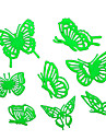8PCS Nachtleuchtende Schmetterlings-Aufkleber-Wand-Plakat Kinderspielzeug Dekoration
