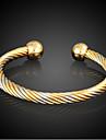 Homme Femme Manchettes Bracelets Mode Plaque or Forme de Cercle Bijoux Pour Quotidien Decontracte Regalos de Navidad