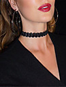 Ожерелье Ожерелья-бархатки Татуировка Choker Бижутерия Для вечеринок Повседневные Тату-дизайн Мода Бархат 1шт Подарок Черный Белый