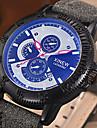 Hombre Reloj de Vestir Reloj de Moda Reloj de Pulsera Cuarzo Luminoso Cronometro Punk Colorido PU Banda Cosecha Cool CasualNegro Azul