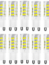 10pcs g9 51smd 2835 400-500lm chaud blanc / blanc decoratif / impermeable a l\'eau ac220-240v led bi-pin lights