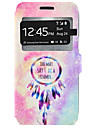 Dream Catcher Pattern Window Clamshell PU Leather Case with Stand and Card Slot for Samsung Galaxy J7 J5 J3 J310