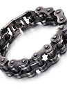 2016 Kalen New 316L Stainless Steel Brushed Bike Chain Bracelet Cool Oxidized Black Bicycle Chain Men's Bracelet s Christmas Gifts