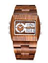 Мужской Спортивные часы Модные часы Уникальный творческий часы Часы Дерево LED Календарь Секундомер С двумя часовыми поясами деревянный