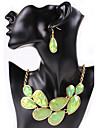 Набор украшений Ожерелье / серьги Сексуальные платья Мода европейский Оранжевый Бежевый Лиловый Зеленый Ожерелья Серьги ДляСвадьба Для