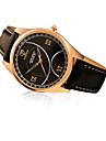 367 YAZOLE Fashion Men\'s Business Dress Watch Leather Strap Blue Ray Glass Hollow  Analog Quartz Wrist Watches