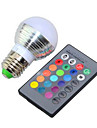 3 E26/E27 LED 스마트 전구 G95 1 고성능 LED 240 lm lm RGB 밝기 조절 / 리모컨 작동 AC 85-265 V 1개