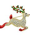 рождественские броши формы горный хрусталь оленей