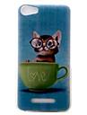 Pour wiko lenny3 lenny2 housse de telephone housse motif de chaton peint materiel tpu pour wiko u feel you feel lite jerry ensoleille