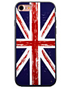For iPhone 7 Case / iPhone 7 Plus Case / iPhone 6 Case Embossed / Pattern Case Back Cover Case Flag Hard Acrylic AppleiPhone 7 Plus /