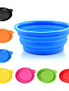 Dog Bowls & Water Bottles Pet Bowls & Feeding Portable / Foldable Red / White / Blue / Pink / Yellow / Orange Silicone