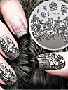 2016 Latest Version Fashion Pattern Flower Nail Art Stamping Image Template Plates