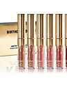 Birthday Limited Gold Edition 6 Colored Mini Lip Gloss Matte Cosmetics Lip Kit Cosmetics