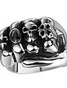 Классические кольца Бижутерия Сталь В форме черепа Хип-хоп Мода Черный Бижутерия Свадьба Для вечеринок Halloween Повседневные Спорт 1шт