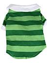 Gatos Caes Camiseta Vermelho Verde Azul Roupas para Caes Verao Primavera/Outono Riscas Casual