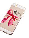 Для Кейс для iPhone 5 Ультратонкий / Прозрачный / С узором Кейс для Задняя крышка Кейс для Мультяшная тематика Мягкий TPU iPhone SE/5s/5