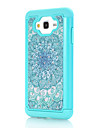 For Samsung Galaxy J7 J5 Green Flowers Pattern Drill TPU PC Combo Material Mobile Phone Shell Case