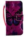 Для Бумажник для карт / Флип / С узором Кейс для Чехол Кейс для Бабочка Твердый Искусственная кожа AppleiPhone 7 Plus / iPhone 7 / iPhone