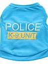 Коты Собаки Футболка Одежда для собак Лето Полиция/армия Милые На каждый день Черный Розовый Синий Розовый